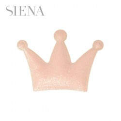 Clip corona glitter Siena rosa