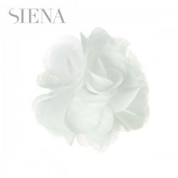 Tocado flor Siena blanco