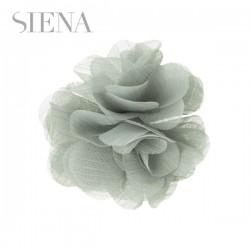 Tocado flor Siena gris claro
