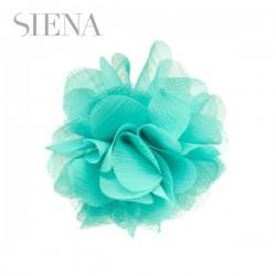Tocado flor Siena gris verde agua