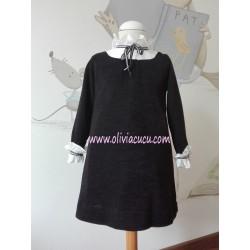 Vestido Ancar Punto Negro