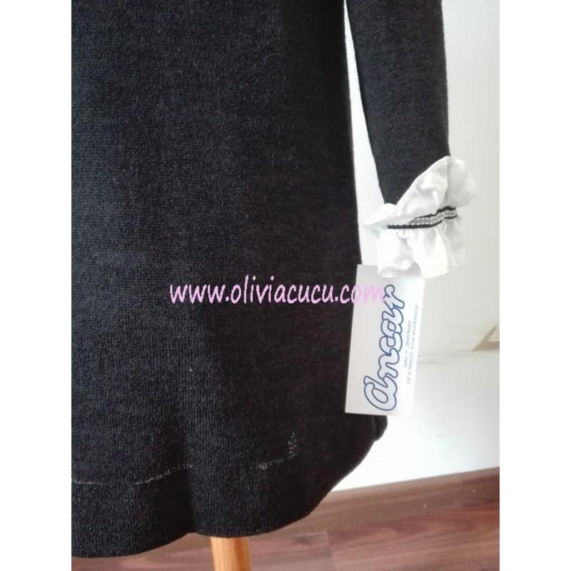 Vestido negro punto nina