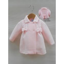 Abrigo Sardon lacitos rosa bebe