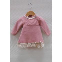 Vestido rosa bebe Sardon