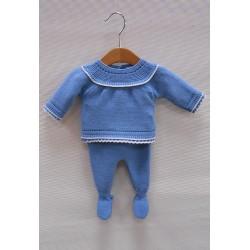 Conjunto bebe Sardon azul azafata