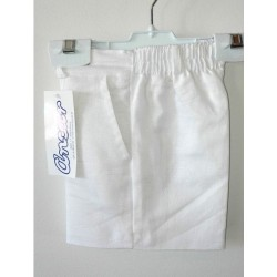 Pantalon lino Ancar blanco