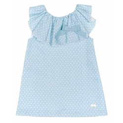Vestido Eve Children topitos verde agua