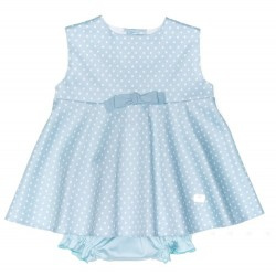 Conjunto Eve Children topitos verde agua