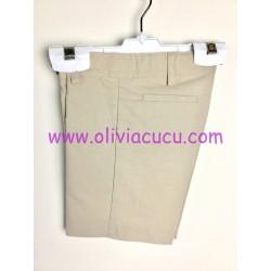 Pantalon lino Ancar camel