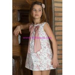 Vestido Eve Children Cuarzo estampado pajaritos