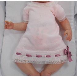 Vestido de punto rosa Sardon Pasacintas