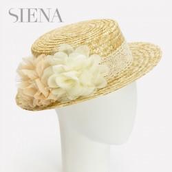 Canotier Siena flores crudo