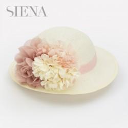Sombrero Siena hortensias rosas