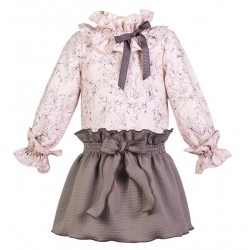 Conjunto Eve Children rosa marron