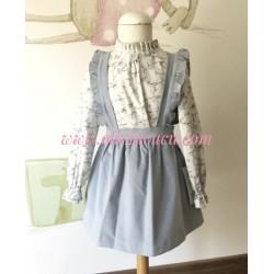 Falda pichi y blusa pajaritos Ancar