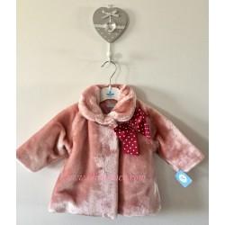 Abrigo Sardon pelito rosa palo