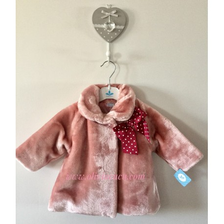 Abrigo Sardon pelito rosa