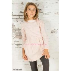 Vestido Plumeti Rain rosa/cobre