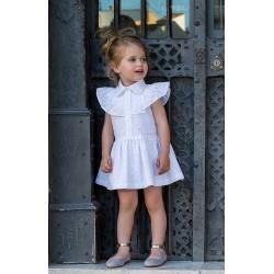 Vestido Rochy Perforado Blanco