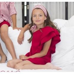 Vestido Eve Children Carmesi asimetrico