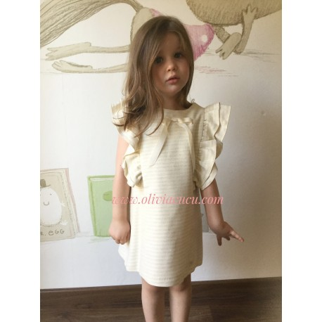 Vestido Eve Children crudo/plata