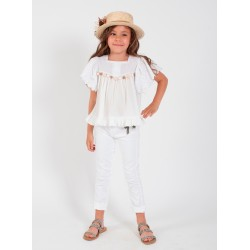 Pantalon vaquero blanco Young&Chic de Kauli