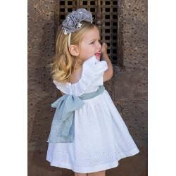Vestido Rochy Perforado Blanco lazada