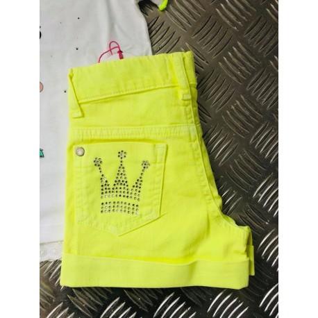 Short Eva Castro amarillo fluor