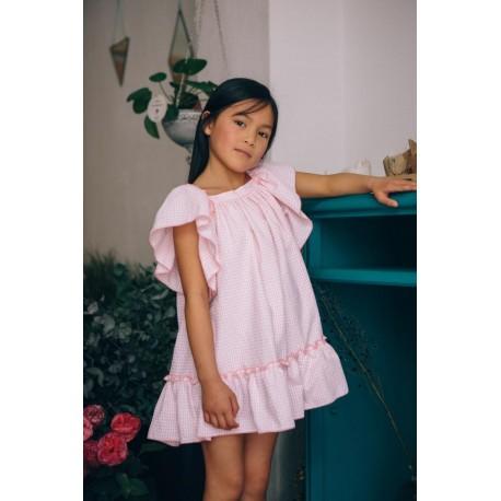 Vestido No sin Valentina vichy rosa