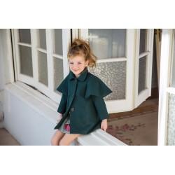 Abrigo capa Rochy verde ingles