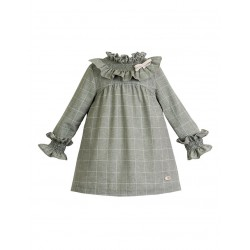 Vestido Forest de Eve Children cuadros verde