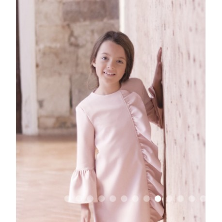 Vestido Mountain de Eve Children rosa