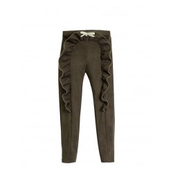 Pantalon Teen de Eve Children aterciopelado kaki
