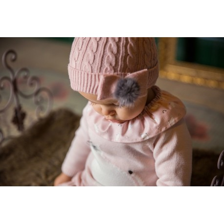 Conjunto bebe Rochy gatitos rosas