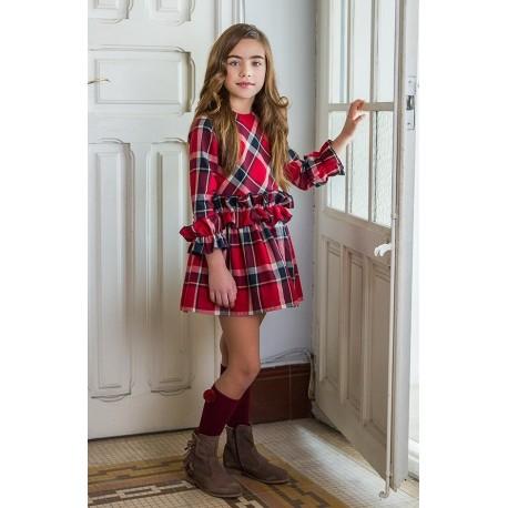 Vestido Rochy Picas rojo