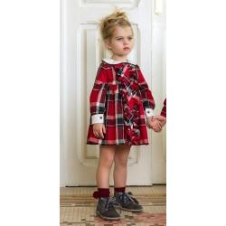 Vestido camisero Rochy Picas rojo