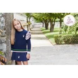 Conjunto falda y jersey Eva Castro Sport Marino