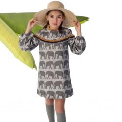 Vestido J.V. José Varon elefantes niña