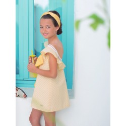 Vestido Bird de Eve Children rayitas amarillas