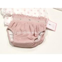 Culetin Eva Castro baby rosa nido de abeja
