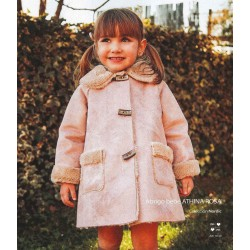 Abrigo pelliza Athina rosa de Mami Maria
