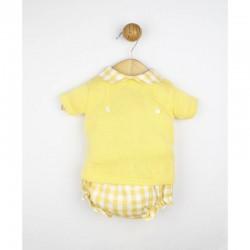 Conjunto bebé Cuadritos amarillo