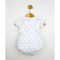 Ranita bebe lunares con blusa plumeti