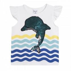 Camiseta niña delfin lentejuelas