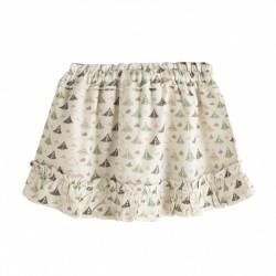 Falda de niña estampado tiendas de campaña