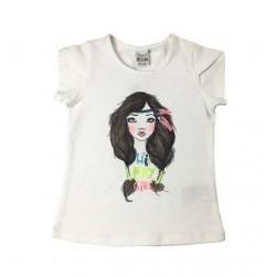 Camiseta niña blanca con chica