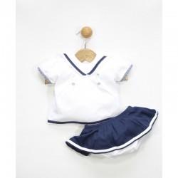 Conjunto de bebe marinero faldita