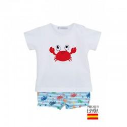 Conjunto baño niño cangrejo