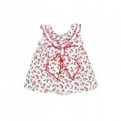 Vestido niña estampado cerezas